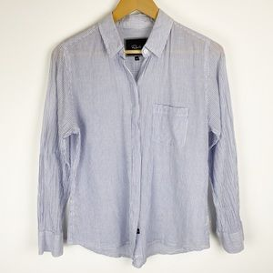 Rails Plaid Button Down Shirt Blue & White Size M